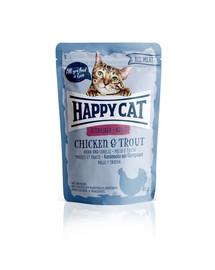 HAPPY CAT Kapsička ALL MEAT Adult Sterilised Huhn & Forelle 85 g