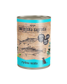 WIEJSKA ZAGRODA Rybí hody 400g bezobilná konzerva pro psy