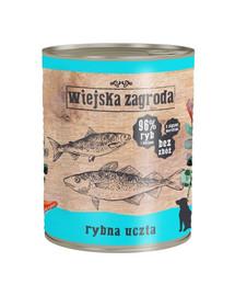 WIEJSKA ZAGRODA Rybí hody 800g bezobilná konzerva pro psy