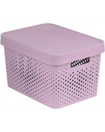 CURVER Box INFINITY DOTS 17L - růžový