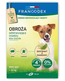 FRANCODEX Obojek proti blechám pro malé psy do 10 kg - ochrana 4 měsíce, 35 cm