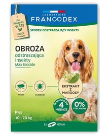 FRANCODEX Obojek proti blechám pro středně velké psy od 10 kg do 20 kg - 4 měsíce ochrany, 60 cm