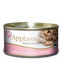 APPLAWS Konzerva pro kočky Tuňák a Krevety 156 g