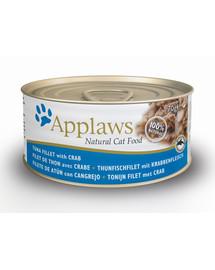 APPLAWS  konzerva pro kočku tuňák a krab 70g
