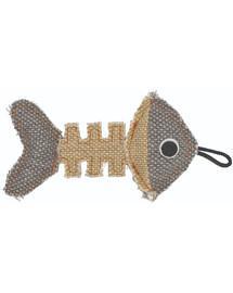 BARRY KING Rybí kostra z odolného materiálu šedo-krémová 14 x 7,5 cm