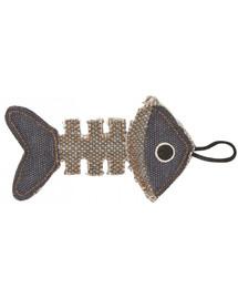 BARRY KING Rybí kostra z odolného materiálu šedomodrá 14 x 7,5 cm