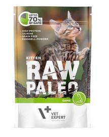 VETEXPERT RAW PALEO Kitten game 100 g zvěřinová kapsička pro koťata