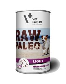VETEXPERT RAW PALEO Adult Light lamb 400g Jehněčí light konzerva pro psy