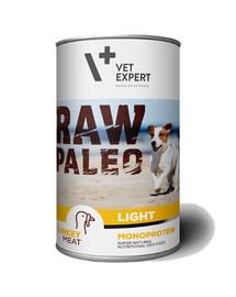 VETEXPERT RAW PALEO Adult Light turkey 400 g konzerva pro psy