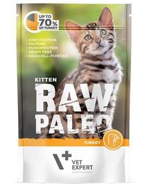 VETEXPERT RAW PALEO Kitten turkey 100 g krůtí kapsička pro koťata