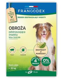 FRANCODEX Obojek proti blechám pro velké psy nad 20 kg - 4 měsíce ochrany, 75 cm