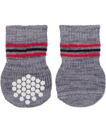TRIXIE Protiskluzové šedé ponožky pro psy , M-L 2 ks
