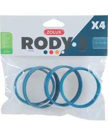 ZOLUX Komponenty Rody 3-spojovací kroužek modrý 4ks