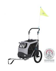 Trixie vozík za kolo pro psy rychloskládací S 58 x 93 x 74/114 cm
