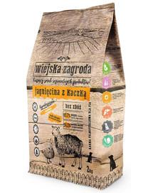WIEJSKA ZAGRODA Dog Jehněčí a Kachna 2 kg granule pro malé a střední rasy