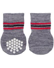 TRIXIE Protiskluzové šedé ponožky, 2 ks pro psy L-XL