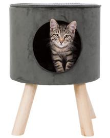 TRIXIE Kukaň pro kočky Livia 38 × 50 cm šedá