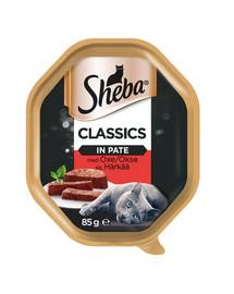 SHEBA Classics hovězí 85g*22