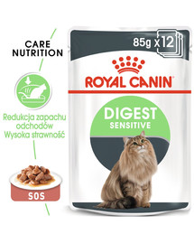 ROYAL CANIN Digest SENSITIVE v omáčce 85 g x 12