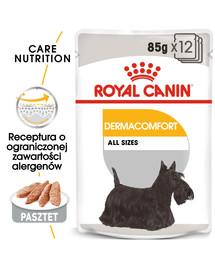 ROYAL CANIN Dermacomfort Dog Loaf  12 x 85g kapsička s paštikou pro psy s problémy s kůží