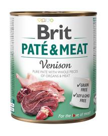 BRIT Pate & meat venison 800g konzerva pro psy