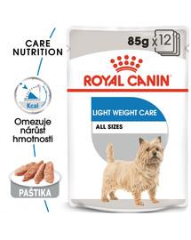 ROYAL CANIN Light Weight Care Dog Loaf 12 x 85g dietní kapsička s paštikou pro psy