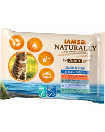 IAMS Naturally Cat Adult Sea collection 4 x 85 g