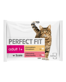 PERFECT FIT Cat Adult 1+ masové kapsičky 4*85 g