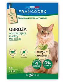 FRANCODEX Obojek proti blechám pro kočky nad 2 kg - ochrana 4 měsíce, 43 cm