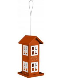 ZOLUX Krmítko domeček s 8 okny oranžový