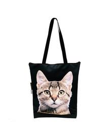 FERA Nákupní taška šedá kočka