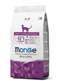 MONGE Cat Adult Kuře 1.5 kg granule pro dospělé kočky