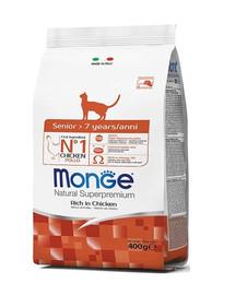 MONGE Cat Senior 400g granule pro starší kočky