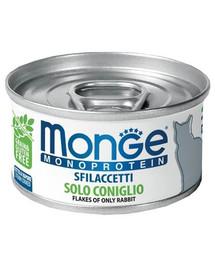 MONGE Cat Monoprotein Králík 80g