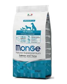 MONGE Dog Hypoallergenic Ryba, rýže 2,5kg