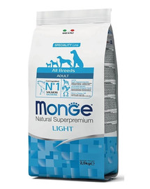 MONGE Dog Light Losos s rýží 2,5 kg