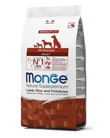 MONGE Dog Jehně, rýže, brambory 2,5 kg