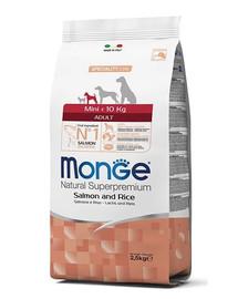 MONGE Dog Mini Adult Losos rýže 2,5 kg