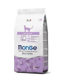 MONGE Cat Sterilised Kuře 1.5kg granule pro kastrované kočky
