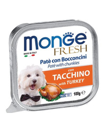 MONGE Dog Fresh paštika & kousky s krůtou 100 g