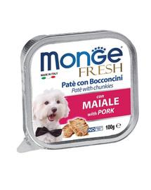 MONGE Dog Fresh Paštika a kousky s vepřovým 100g