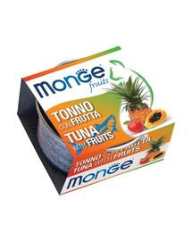 MONGE Fruit Cat Tuňák a ovoce 80g