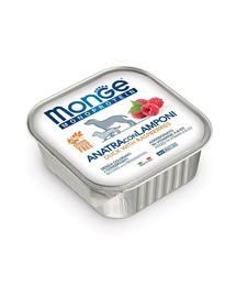 MONGE Fruit Dog Monoprotein Kachna a maliny 150g