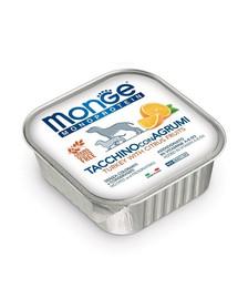MONGE Fruit Dog Monoprotein Krůta a pomeranč 150g