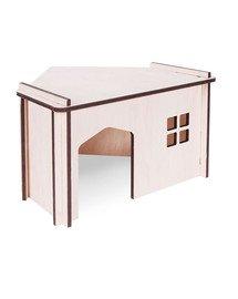 PET INN Sklopný dřevěný domek rohový 1