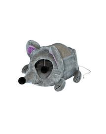 TRIXIE Plyšová myš Lukas škrabadlem a hračkou  35 x 33 x 65 cm šedé