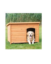 TRIXIE Dřevěná bouda pro psa, rovná střecha M