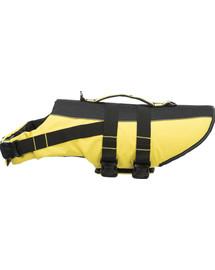 TRIXIE Life Vest plavací vesta pro psa XL 65 cm: 60-96 cm, do 45kg žluto/černá