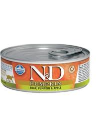 N&D GrainFree Cat PUMPKIN Adult Boar & Apple 80g