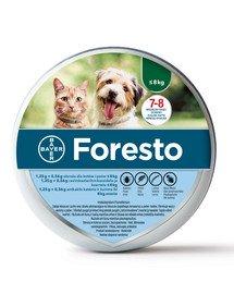 BAYER Foresto obojek pro malé psy a kočky do 8kg 38cm